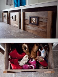 scrap lumber storage boxes...fantastic!