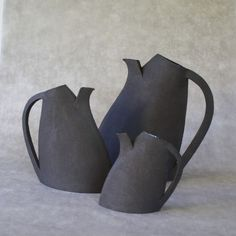 Pitchers and teapots EMA Black Stoneware - ANNE KRIEG CERAMIQUE: request quotes, estimates, prices or catalogues online through MOM, your digital platform dedicated to decor, design and lifestyle professionals.