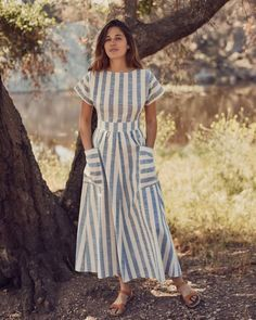 Shop the Christy Dawn Dress Collections Shop the Christy Dawn Dress Collections Linen Dresses, Day Dresses, Cotton Dresses, Dress Outfits, Casual Dresses, Summer Dresses, Dresses For Women, Striped Dress Outfit, Fitted Dresses
