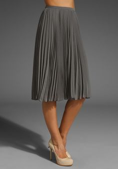 HALSTON HERITAGE Pleated Skirt in Ash at Revolve Clothing - Free Shipping!