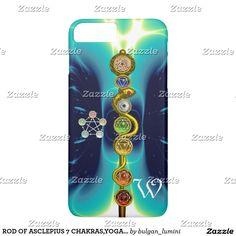 ROD OF ASCLEPIUS 7 CHAKRAS,YOGA ,SPIRITUAL ENERGY iPhone 7 PLUS CASE #yoga #chakra #medical #medicine #art  #3d #reiki