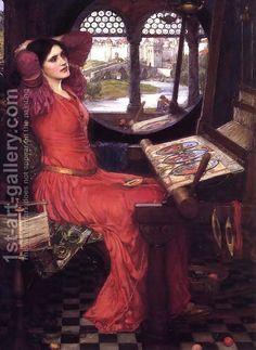 John William Waterhouse:I am Half Sick of Shadows, Said the Lady of Shalott  c.1916