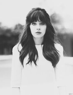 Zooey Deschanel's Hair ⇨ Follow City Girl at link https://www.pinterest.com/citygirlpideas/ for great pins and recipes! ☕