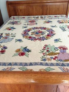 Vintage Applique Quilt Queen | eBay