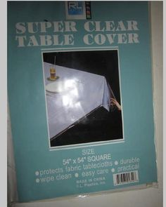 Rl Plastics Super Clear Durable Table Cover Size 54 X 54 Square -- This is an Amazon Affiliate link. More info could be found at the image url.