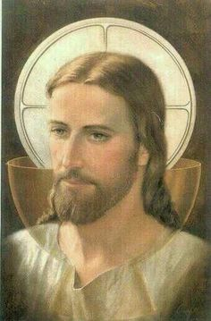 Jesus & The Eucharist / Lamb of God / Body, Blood, Soul & Divinity God and Jesus Christ Religious Pictures, Jesus Pictures, Religious Icons, Mary And Jesus, Jesus Is Lord, Religion Catolica, Jesus Face, Biblical Art, In Christ Alone
