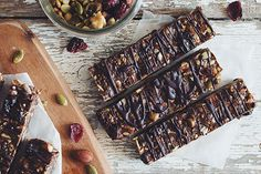 These simple and easy no-bake fruit and nut granola bars are perfect for a healthy snack, breakfast on the go, or after workouts. Get the granola bar recipe.