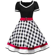 8c8c6a2910b25b MisShow Damen elegant 50er Jahre Petticoat Kleider Gepunkte Rockabilly  Kleider Cocktailkleider #Bekleidung #Damen #