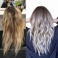 Sombre makeover #sombre #hairpainting #lowlights #beigeblonde #icyblonde #prettyhair #colorcorrection #olaplex #brightblonde #hairinspo #hairbybrittanyy