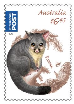 Our Bush Baby Possum stamp