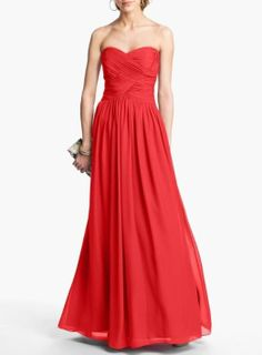 Prom inspiration! A long vibrant red gown.