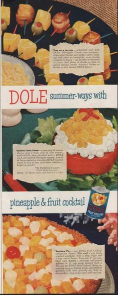 Tray on a terrace ~ Cheese Circle Salad ~ Rainbow Pie ~  1950s (Page 44)