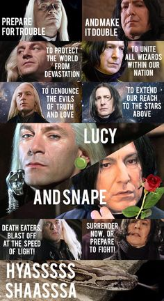Funny Harry Potter Lucius Malfoy Severus Snape- the days of pokemon Harry Potter Comics, Memes Do Harry Potter, Harry Potter Funny Pictures, Fans D'harry Potter, Harry Potter Deathly Hallows, Harry Potter Fandom, Equipe Rocket, Doug Funnie, Funny Harry Potter