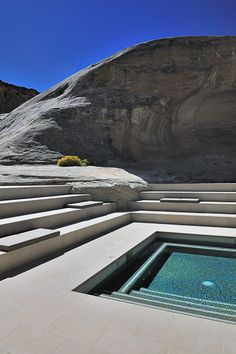 Amangiri Utah luxury resort, Canyon Point, Utah designed by Marwan Al-Sayed, Wendell Burnette and Rick Joy Architects