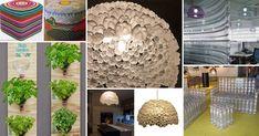 A decoração com garrafa pet pode ser feita por qualquer pessoa. Com as dicas certas, é possível transformar esse material em móveis e peças de decoração. Recycled Crafts, Diy And Crafts, Recycling, Sweet Home, Cool Stuff, Detox, Anna, Plastic, Garden