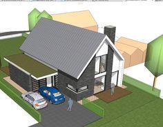 Voorlopig ontwerp woning Delft Bongers Architecten BNA Picnic Table, Exterior Design, Bungalow, Building A House, House Plans, Villa, New Homes, House Design, Architecture