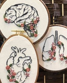 "Embroidery♦️Вышивка♦️Handmade on Instagram: ""@hellochloemarie.embroidery"" Рукоделие❌Вышивка❌Handmade on Instagram: ""@hellochloemarie.embroidery"" Embroidery Stitches Tutorial, Embroidery Flowers Pattern, Embroidery On Clothes, Simple Embroidery, Embroidery Patterns Free, Modern Embroidery, Hand Embroidery Patterns, Hungarian Embroidery, Embroidery Hoops"