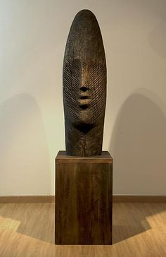 Mustafa Ali (b.1956) ~ Wood Sculpture 2010 - 200x50cm