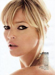 Kohl eyes, Bardot style.