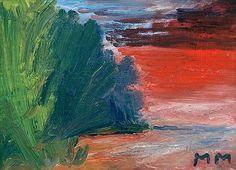 MAuno Markkula: Iltarusko, 1948, öljy kankaalle, 38x52 cm - Bukowskis