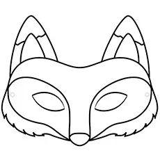 Animal Mask Templates, Printable Animal Masks, Unicorn Printables, Fox Coloring Page, Free Coloring Pages, Printable Coloring, Wolf Maske, Fox Mask, Templates Printable Free