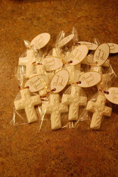 Communion, Baptism, Confirmation Chocolate Cross(12) with thank you tags each cross is 2 1/2 inches by 2 inch MESSAGE ME BEFORE ORDERING FOR ACCURATE SHIPPING AND PRICING FOR MULTIPLE ORDERS. SHIPPING LISTED IS ESTIMATE Its that time of year for