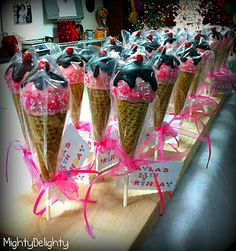 Ice Cream Cone Cake Pops.  So cute!