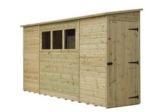 Garden Shed Shiplap Pent Roof Tanalised 3 Windows Low Side Pressure Treated - Roof brick - Roof cladding Garden Storage Units, Garden Storage Shed, Bin Store Garden, Roof Cladding, Brick Roof, Shed Sizes, Apex Roof, Sheds For Sale, Roof Covering