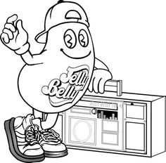Jelly Belly Coloring Pages Cool Stuff
