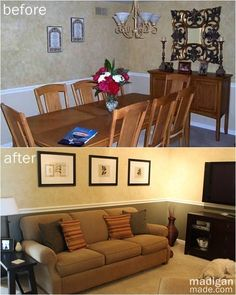 This room used to be a dining room (the picture below was taken during our home inspection) but we converted it into our family TV room. Description from madiganmade.com. I searched for this on bing.com/images