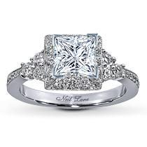 I'm not a fan of square cut...but I immediately fell in love with this ring