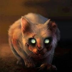 In this time, you will be learning the incredibly useful skill of digital painting using a photo reference. This is a fantastic method to learn the basics of digital painting to manipulate a zombie cat, and can really improve your design skills. Zombie Kunst, Zombie Art, Arte Horror, Horror Art, Funny Horror, Fantasy Kunst, Fantasy Art, Zombies, The Crow