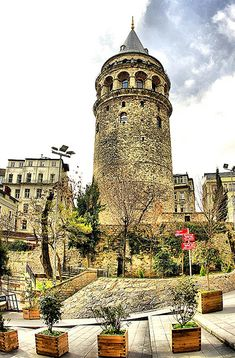 İstanbul, Turkey - Galata Tower on the Asian side - the part of Istanbul that has more European style than the European side...