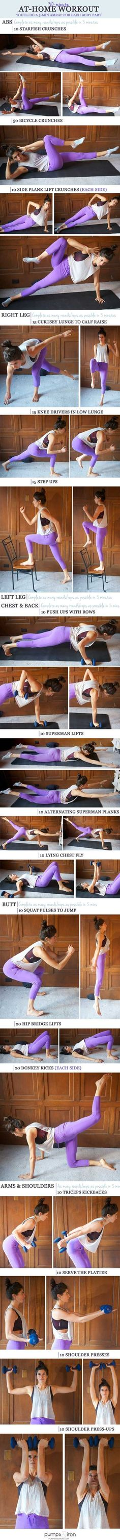 Beauty and Fitness with Marry: 30-Minute Total Body At-Home Workout ...
