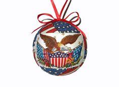 Patriotic Ornament Holiday Gift Idea Fabric by craftcrazy4u, $14.00 #Patriotic