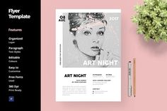Art and Fashion Flyer Template by anabellahope on @creativemarket