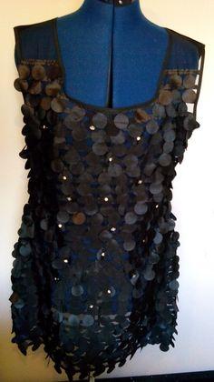 Black Velvet Rhinestone Fringe Sleeveless by EbyEvelynDesigns
