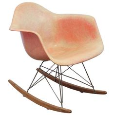 Rare First Production Eames Rocker Zenith Plastics | From a unique collection of antique and modern rocking chairs at https://www.1stdibs.com/furniture/seating/rocking-chairs/