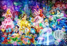 D-2000-607 Tenyo Disney Japan Jigsaw Puzzles Six Princess Beauty