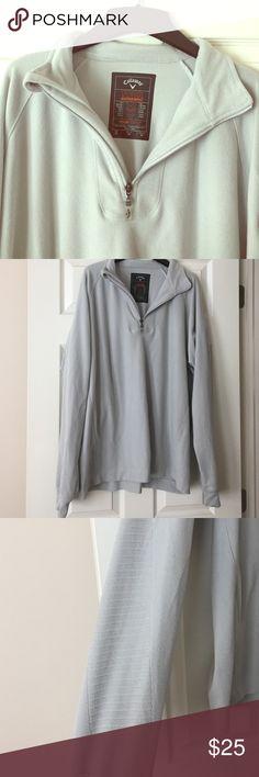 Men's Callaway Gray 1/4 Zip Fleece Pullover Men's Callaway Gray 1/4 Zip Fleece Pullover. Striped Detail on Arms. Great Condition! Callaway Shirts Sweatshirts & Hoodies
