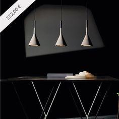 APLOMB | Lámpara colgante moderna y de interior, diseñada por Lucidi e Pevere para Foscarini. Acabada en color gris. + info y venta en: http://www.luzambiente.com/iluminacion/colgantes/aplomb.html