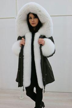 NEW WOMEN'S WINTER PARKA JACKET ARCTIC FOX REAL FUR  NO MINK  NERZ ЗИМНЯЯ ПАРКА #SNSR #Parka #Outdoor
