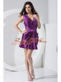 Beading Decorate Bodice V-neck Mini-length 2013 Prom Dress For Formal Evening Purple- $106.49  fitted mini length prom dress | top seller prom dress | prom dress for sale | one of a kind prom dress | special prom dress for graduation | prom party dresses | prom dress for new year | special occasions prom dress | alex polizzi prom celebrity dress | beyonce prom homecoming dress | popular summer prom dress | funny spring prom dress | stores selling prom dress