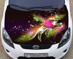 Full Color Car Vinyl Graphics Decal Flower 2 K 023 | eBay