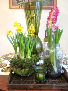 wiosenna aranżacja na stole
