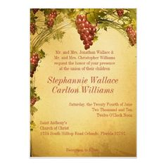 Vineyard Wedding Invitation