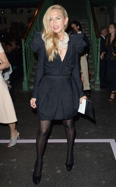 Show stopper! Rachel Zoe brings back puffy sleeves with this sharp black dress.