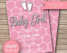 Impronta Baby Shower Inviti, impronta Baby Shower invito, stampabile Baby doccia…
