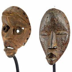 Máscara de madeira, do século XX, que foi usado durante a celebração da Gelede, uma cerimônia religiosa praticada pela tribo ioruba, originária do sul e sudeste da Nigéria, Benin.