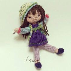 出来た #amigurumi #crochet #doll #handmade #あみぐるみ #女の子